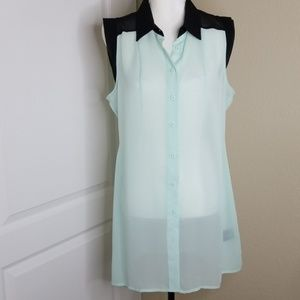 Kardashian Kollection sleeveless blouse